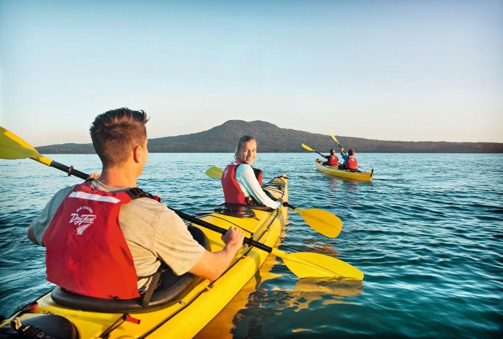 Kayaking Rangitoto Island Auckland