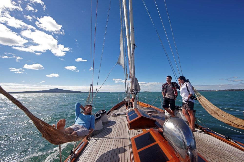 Yachting Auckland's stunning harbour, Auckland, New Zealand