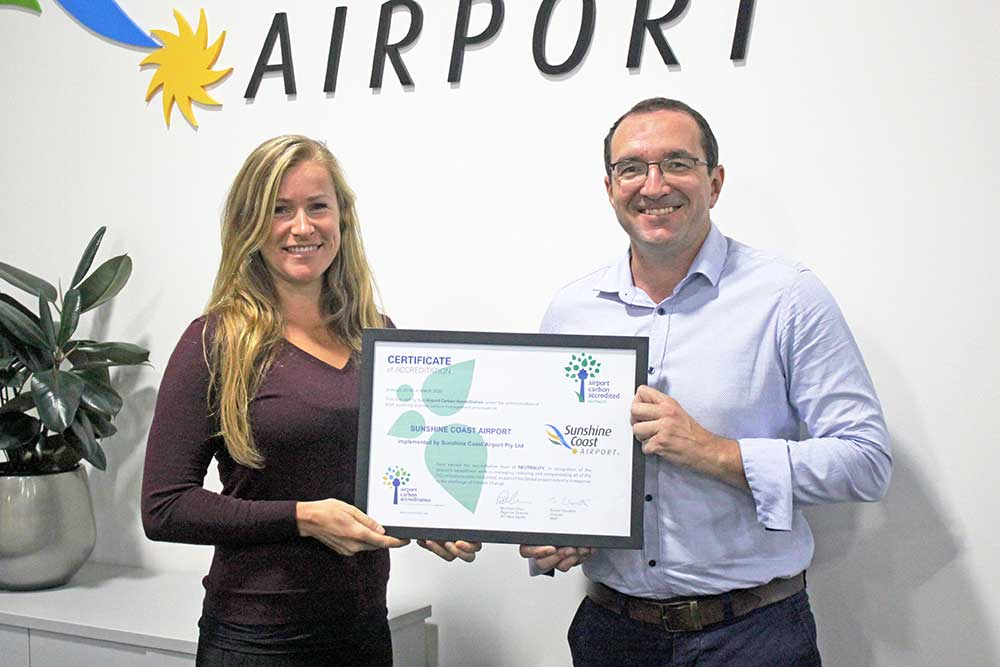 Sunshine Coast Airport awarded carbon neutral status for a second year
