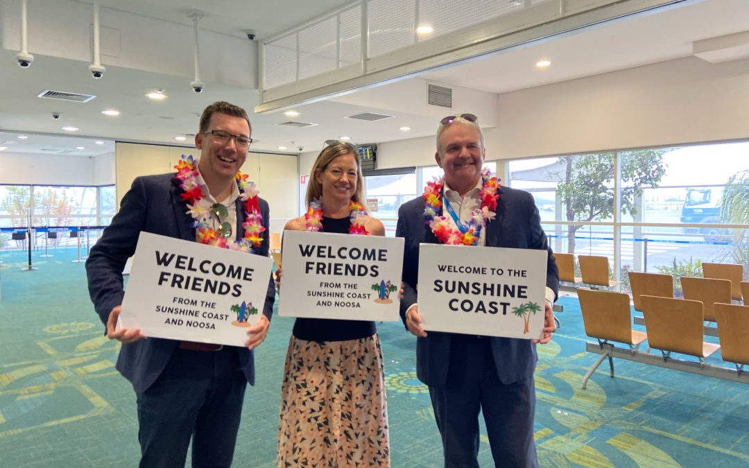 Sunshine Coast welcomes first Melbourne flight as Queensland border reopens