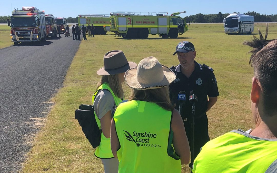 Sunshine Coast Airport's emergency response put to the test in multi-agency exercise