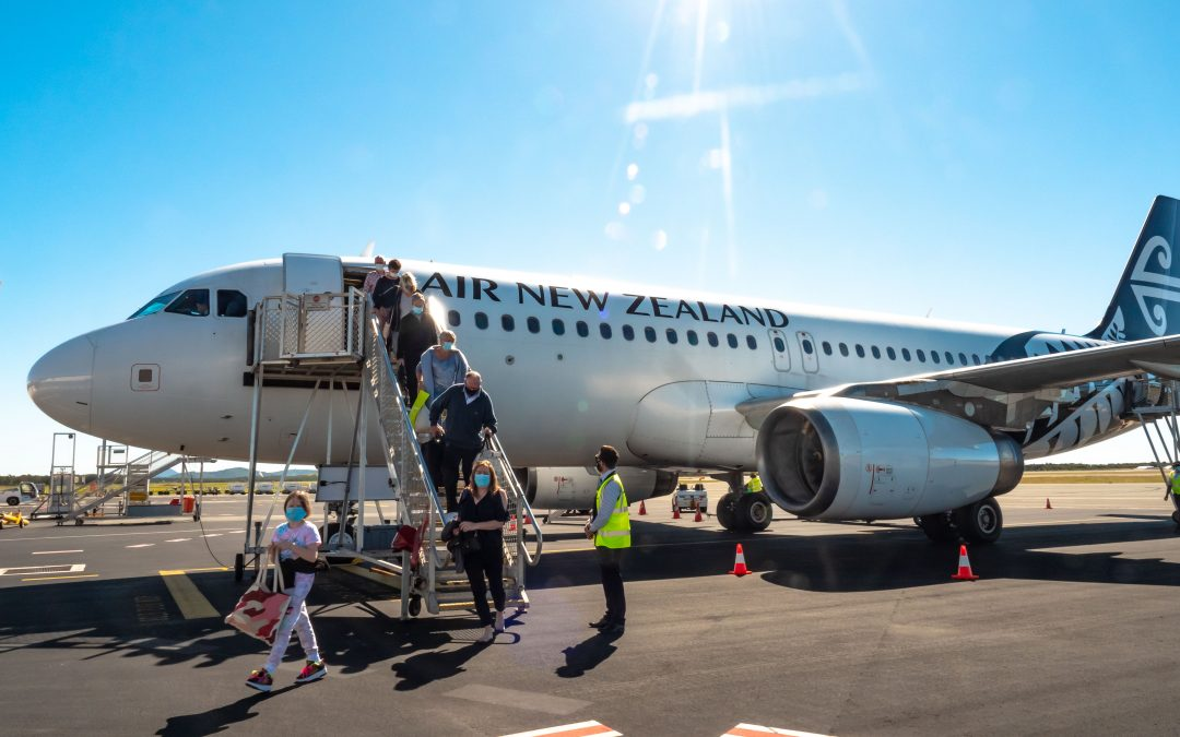 First international flight arrives on Sunshine Coast Airport's new runway, as Air New Zealand launch year round service to Auckland